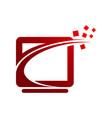 tech logo concept- logo concept computer network vector image