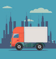 truck delivery isolated on vector image