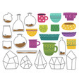 vases and pots crystals vector image