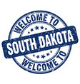 welcome to south dakota vector image vector image