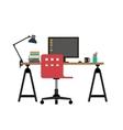 Working desk vector image