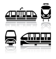 Set of transport icons - Monorail and Tram vector image