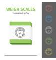 simple line stroked bathroom weigt scales vector image