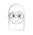cartoon happy young girl with glasses teacher day vector image
