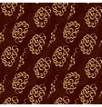 Chocolate doodle seamless pattern like lace vector image