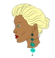 young african woman vector image