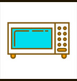 microwave oven with blue glass vector image