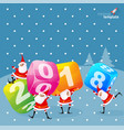 2018 christmas and new year decoration vector image vector image