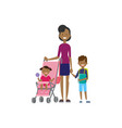 african mother with new born baby children in vector image vector image