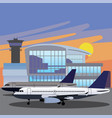 airport arrivals at airport and departures vector image