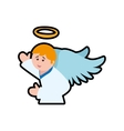 angel cartoon fairy wing heaven icon vector image vector image