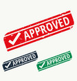 approved stamp sign in different colors vector image