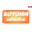 Autumn Collection inscription vector image