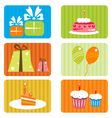 birthday template vector image vector image