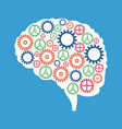 brain gears cooperation solution vector image