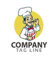 Chef Cartoon Logo vector image vector image