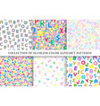 collection colorful seamless alphabet vector image vector image
