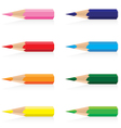 Color pencil isolated on white background vector image vector image