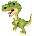 Cute tyrannosaurus cartoon vector image vector image