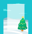 decorated christmas tree garlands place for text vector image