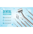 dental health care concept banner horizontal with vector image vector image
