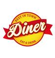diner vintage sign label retro vector image