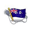 doctor flag new zealand on mascot vector image vector image