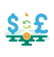 Dollar Pound Currency Exchange vector image vector image