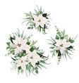 elegant white poinsettia flower christmas bouquet vector image