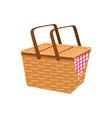 empty picnic basket icon vector image vector image