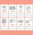 fast food hamburger and fries vector image vector image