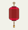 flat design chinese new year red paper lantern vector image vector image