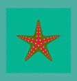 flat shading style tropical starfish vector image vector image