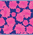 floral background with hand drawn chamomiles vector image