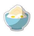 flour ingredient isolated icon vector image vector image