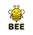 fun cute happy smiling bee vector image vector image