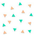 Green Orange Triangle Abstract White Background vector image