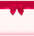 greeting card with a bow holiday background vector image vector image