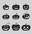 halloween pumpkin icons vector image