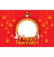 happy navratri festival poster design vector image vector image