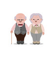 happy old senior man and woman in glasses vector image