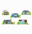 house home cottage icons real estate buildings vector image vector image