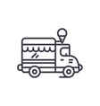 ice cream food truck line icon sign vector image vector image