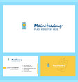 id card logo design with tagline front and back vector image