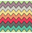 Ikat Chevron Seamless Pattern vector image