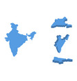 india isometric map country isolated on a white vector image vector image