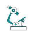 isolated microscope design vector image vector image
