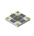 isometric 3d module district vector image vector image