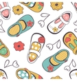 Little girl shoes seamless pattern vector image vector image