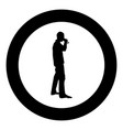man drinking wine from glass icon black color vector image vector image